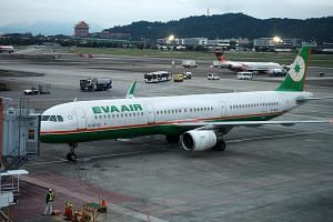 Eva Air said flights between Taipei and Hong Kong, as well as from Taiwan to Japan, Singapore, London and New York will be affected by the cancellations.