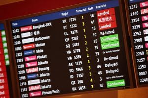 The Civil Aviation Authority of Singapore said that approximately 15 departures and three arrivals were delayed, and another seven flights were diverted, due to bad weather and unauthorised drone activities.