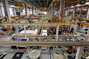 An engine rotor assembly facility in Singapore, on March 18, 2019.