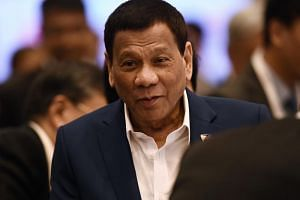 Philippine President Rodrigo Duterte's remarks came as debates raged over the sinking of a small Philippine fishing boat by a steel-hulled Chinese trawler.