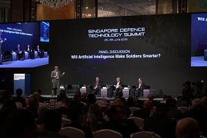 (From left) Discussion moderator Dr Brian Pierce, office director of Information Innovation Office, Defense Advanced Research Projects Agency, US Department of Defense; Endor co-founder and CEO Dr Yaniv Altshuler; Swedish Defence Research Agency rese
