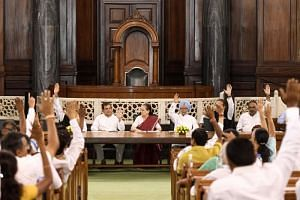 The Congress Parliament Party meeting at the Parliament House in New Delhi on June 1, 2019. The party has refused to accept president Rahul Gandhi's resignation.