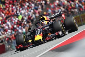 Red Bull Racing's Dutch driver Max Verstappen steers his car during the Austrian Formula One Grand Prix in Spielberg on June 30, 2019.