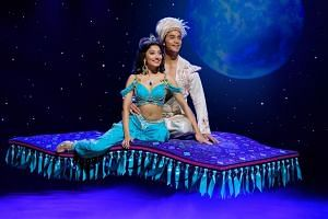 The English stage version of Aladdin will make its Asian premiere at Marina Bay Sands this month, with Shubshri Kandiah and Graeme Isaako in the lead roles of Princess Jasmine and Aladdin.