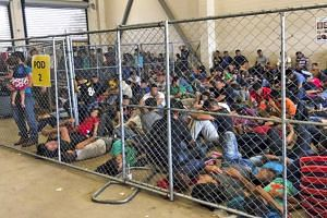 Conditions at a US Border Patrol holding station in McAllen, Texas.