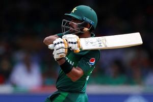 Pakistan's Babar Azam in action.