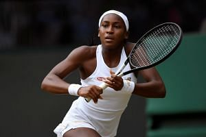 Gauff, a precocious 15-year-old American, was defeated, 6-3, 6-3.