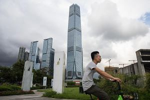 Hong Kong's International Commerce Centre, which houses the offices of Deutsche Bank there. The city may be hit harder than Singapore as the Republic is the bank's Asia-Pacific hub for fixed-income and currencies business, while Hong Kong is its Asia