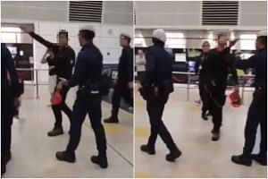 A video showing police officers conducting checks on a man at Bishan MRT station has been circulating online.