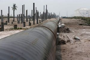 An oil pipeline in Johor. The Pakatan Harapan government ordered HSBC to transfer the funds held in China Petroleum Pipeline Engineering Ltd's account in Malaysia to Suria Strategic Resources Sdn Bhd, which is wholly owned by the Ministry of Finance.