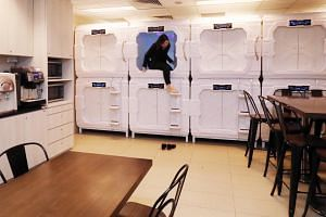 Two years ago, Grand Park City Hall set up 10 sleep capsules at the staff pantry, which staff can use between shifts or even overnight if they are working an early shift the next day.