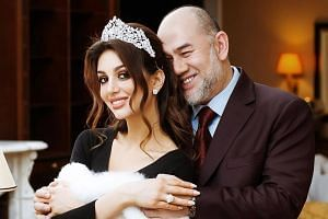The date of Sultan Muhammad V's divorce from Russian ex-beauty queen Oksana Voevodina was listed as June 22 and it was marked as taking place in Singapore.