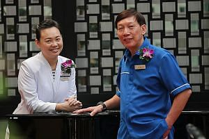 Ms Stella Goh, a senior nurse clinician who practises palliative care at the National Cancer Centre Singapore, and Mr Albert Ho, a nurse manager at the National University Hospital, were among the 101 nurses honoured at yesterday's Nurses' Merit Awar