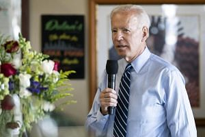 Democratic front-runner Joe Biden condemned Trump for appearing to bask in his supporters'