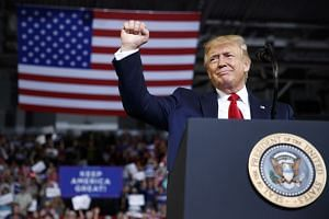 Trump delivers remarks during a rally at East Carolina University in Greenville, North Carolina, July 17, 2019.