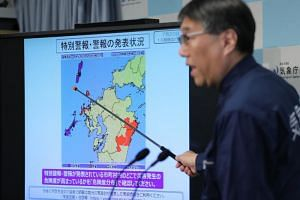Forecasters warned of mudslides, flooding and swollen rivers on the island of Kyushu and the Chugoku region in Japan.