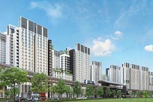 An artist's impression of the projects in Punggol's Northshore district, which will boast the first HDB smart homes.