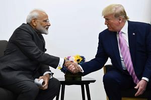 India's Prime Minister Narendra Modi at a meeting with US President Donald Trump during the G20 Osaka Summit in Osaka on June 28, 2019.