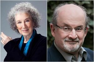 Margaret Atwood (left), whose novel The Blind Assassin won the Booker Prize in 2000, faces strong competition. Other nominated books include Salman Rushdie's forthcoming Quichotte.