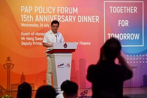 In his address, Deputy Prime Minister Heng Swee Keat noted how trust between the PAP and the electorate was built over successive generations of PAP leaders.