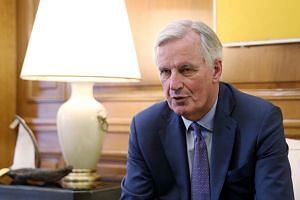 Barnier (above, in May 2019) noted that he has no mandate from the 27 EU leaders to renegotiate the Brexit deal.