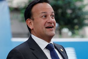 Varadkar arrives to take part in a European Union leaders summit in Brussels, Belgium.