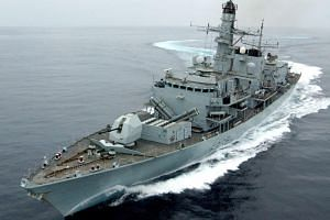 HMS Montrose, a British frigate now in the area, will accompany the vessels.