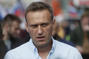 Mr Alexei Navalny, 43, was rushed to hospital from jail where he is serving a 30-day sentence for violating tough protest laws.
