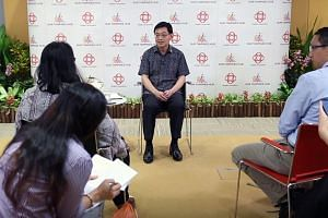 Deputy Prime Minister Heng Swee Keat speaking to journalists, as part of this year's Malaysian Journalists Visit Programme, on July 27.