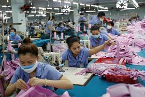A garment assembly line at the Thanh Cong company in Ho Chi Minh City. Vietnam increasingly is being targeted by the Trump administration over a swelling trade surplus with the United States.