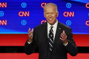 Democratic front runner Joe Biden is polling far ahead of his rivals for the nod to take on President Donald Trump in 2020.