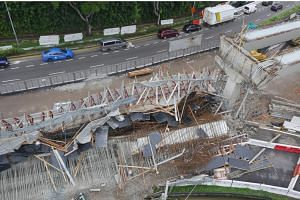 The court heard that cracks were first found on June 16, 2017 before more were discovered on June 30. The Pan-Island Expressway viaduct collapsed on July 14, 2017.