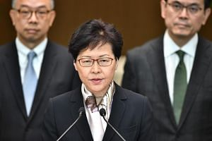 Hong Kong Chief Executive Carrie Lam speaks during a press conference in Hong Kong on August 5, 2019.