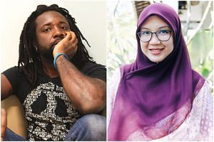 Man Booker Prize-winner Marlon James (left) and Malaysian novelist Hanna Alkaf are among the literary headliners at this year's Singapore Writers Festival.