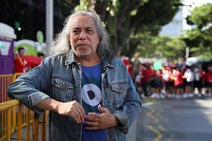 Singapore artist Ramli Sarip at a National Day Parade rehearsal in July.