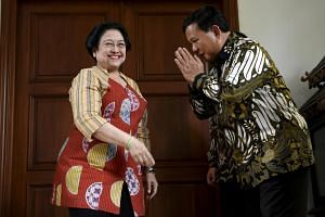 Ms Megawati Sukarnoputri (left) invited former army general Prabowo Subianto to PDI-P's national congress, signalling the possibility of a reconciliation and his party Gerindra joining the ruling coalition.