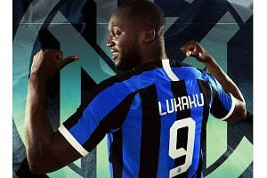 Inter posted a photograph of Belgian forward Romelu Lukaku wearing the shirt on the club's Instagram account one day after confirming that they had signed him from Manchester United.