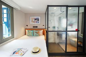 Hotel Soloha is another trendy addition to a neighbourhood already peppered with bars, restaurants and cafes.