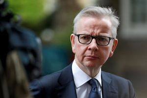 "Michael Gove (above) has confirmed that a bailout ""package"" is being developed for companies that could face cash shortages in the event of a no-deal Brexit."