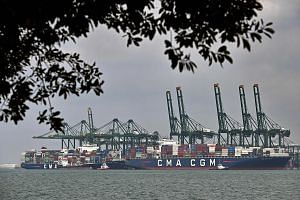 Non-oil domestic exports to Singapore's top 10 markets except the United States also fell in the April to June period, mainly due to decreases in exports to China, Europe and Japan. PHOTO: AGENCE FRANCE-PRESSE