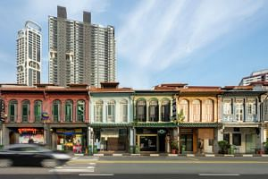 Located at 69, 71, 73, 75, 77 and 79 Kampong Bahru Road near Outram MRT station, the six freehold two-storey shophouses can be sold either individually or collectively.
