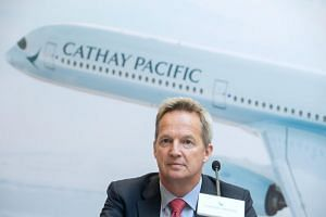 "Cathay Pacific said its CEO Rupert Hogg had resigned ""to take responsibility as a leader of the company in view of recent events""."