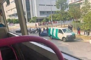 Police said they were alerted to the incident at the junction of Ho Ching Road and Corporation Road around 3.30pm.