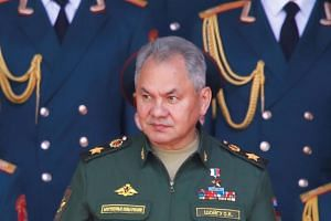 In a photo taken on June 25, Russia's Defence Minister Sergei Shoigu attends the opening ceremony of the International military-technical forum ARMY-2019 at Patriot Congress and Exhibition Centre in Moscow.