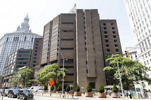 A view of the Metropolitan Correctional Center, the prison where US financier Jeffrey Epstein was found dead in his jail cell.