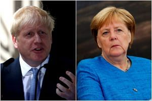British Prime Minister Boris Johnson will seek to convince German Chancellor Angela Merkel to renegotiate elements of the UK's impending divorce from the EU.