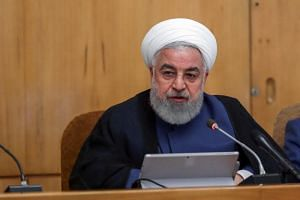 """In a photo taken on Aug 14, Iranian President Hassan Rouhani speaks during a Cabinet meeting in Teheran. He said in a speech at the unveiling of a missile on Aug 22 that """"now that our enemies do not accept logic, we cannot respond with logic."""""""