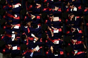The National University of Singapore's Yong Loo Lin School of Medicine graduates at their Commencement ceremony on July 14, 2019. The Ministry of Education said on Aug 22 that students from the lowest-income households will pay no more than $5,000 in