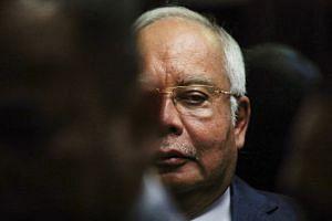 Former Malaysian prime minister Najib Razak arriving at Kuala Lumpur High Court.