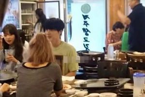 The photos have led to condemnation from netizens who said such betrayal of a spouse's trust is unacceptable, even if the couple's relationship is rocky, and even if the women were just female staff from his agency.